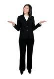 Donna asiatica che pesa le opzioni Fotografia Stock
