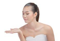 Donna asiatica con il fronte di bellezza Fotografia Stock