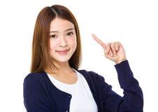 Donna asiatica con un'idea Fotografia Stock Libera da Diritti
