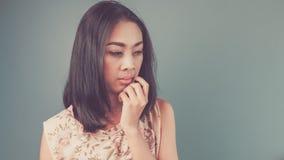 Donna asiatica d'annata Fotografia Stock Libera da Diritti