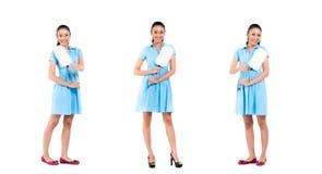 Donna asiatica della donna delle pulizie Fotografia Stock