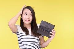 Donna asiatica deludente fotografia stock