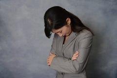 Donna asiatica deludente di affari Immagine Stock
