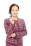 Donna asiatica di affari Fotografia Stock