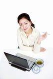 Donna asiatica di affari Fotografie Stock Libere da Diritti