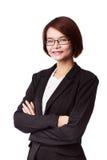 Donna asiatica di affari Immagini Stock Libere da Diritti