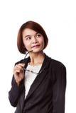 Donna asiatica di affari Fotografia Stock Libera da Diritti