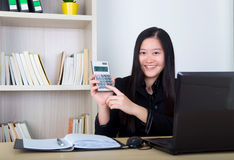 Donna asiatica di affari immagine stock