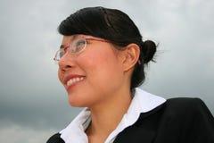 Donna asiatica di affari all'aperto Immagini Stock Libere da Diritti