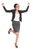 Donna asiatica di affari dell'ente completo Immagini Stock Libere da Diritti