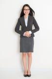 Donna asiatica di affari dell'ente completo Immagini Stock