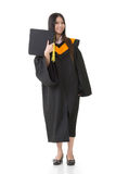 Donna asiatica di graduazione Fotografie Stock Libere da Diritti