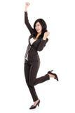 Donna asiatica felice emozionante di affari Immagini Stock Libere da Diritti