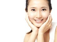 Donna asiatica \ 'fronte di s Fotografie Stock Libere da Diritti