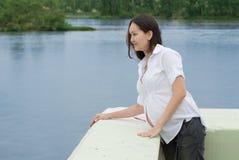 Donna asiatica incinta Fotografie Stock Libere da Diritti