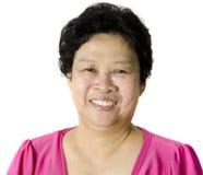 Donna asiatica maggiore Fotografia Stock Libera da Diritti