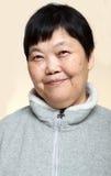 donna asiatica maggiore 60s Fotografie Stock Libere da Diritti