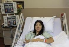 Donna asiatica in ospedale Fotografia Stock Libera da Diritti