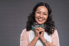 Donna asiatica senior felice Fotografie Stock Libere da Diritti