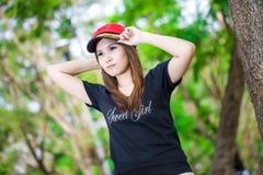 Donna asiatica sicura Fotografia Stock Libera da Diritti