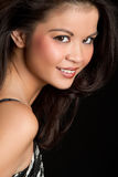 Donna asiatica sorridente Fotografie Stock Libere da Diritti