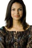 Donna asiatica sorridente immagini stock