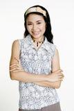 Donna asiatica sorridente immagini stock libere da diritti