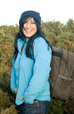 Donna asiatica sorridente felice fotografia stock
