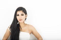 Donna asiatica specializzata attraente Fotografia Stock Libera da Diritti