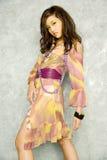 Donna asiatica in vestito Immagine Stock Libera da Diritti