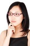 Donna asiatica in vetri Fotografia Stock Libera da Diritti