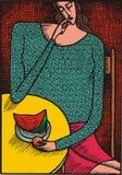 Donna astratta royalty illustrazione gratis