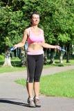 Donna atletica Immagini Stock
