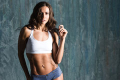 Donna atletica Immagine Stock
