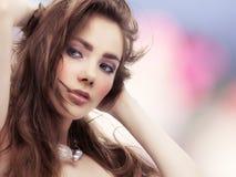 Donna attraente Fotografie Stock