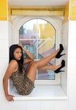 Donna attraente Immagine Stock