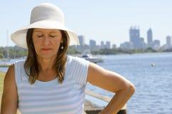 Donna attraente all'orizzonte di Perth Immagini Stock