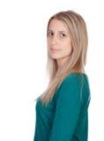 Donna attraente con capelli biondi Fotografie Stock Libere da Diritti