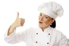 Donna attraente del cuoco Fotografia Stock Libera da Diritti