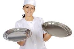 Donna attraente del cuoco immagini stock