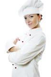 Donna attraente del cuoco Immagine Stock Libera da Diritti
