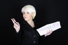 Donna attraente di affari Immagini Stock