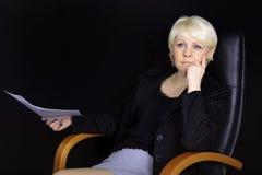 Donna attraente di affari Immagine Stock Libera da Diritti