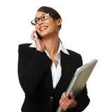 Donna attraente di affari del brunette Fotografia Stock