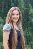 Donna attraente in foresta Immagine Stock Libera da Diritti