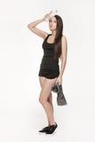 Donna attraente giovane alla palestra Fotografia Stock