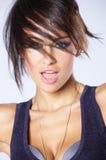 Donna attraente moderna d'avanguardia Fotografia Stock Libera da Diritti
