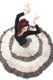 Donna attraente nel dancing lungo del pannello esterno immagine stock
