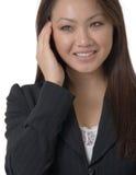 Donna attraente nel nero fotografie stock libere da diritti