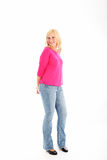 Donna attraente in vestiti casuali Immagine Stock